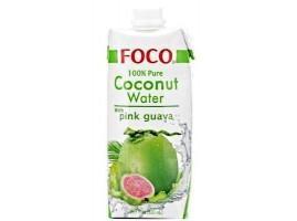Вода кокосовая Фокос розовой гуавой 0,33мл